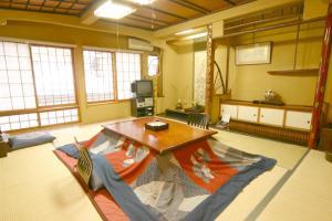 Een zitgedeelte bij Senshinkan Matsuya