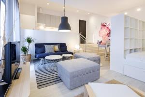 A seating area at Apartments Bastova, Stela & Mia Apartments