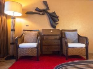 A seating area at Hotel Villa Escale