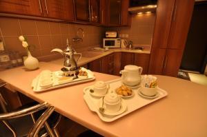 A cozinha ou cozinha compacta de Nelover Hotel Ar Rawdah