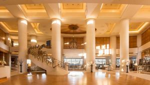 A restaurant or other place to eat at Hilton Tokyo Odaiba