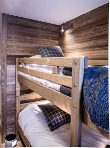 A bunk bed or bunk beds in a room at Les Cimes