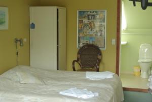 En eller flere senge i et værelse på Borbjerg Mill Inn