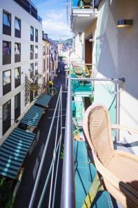 Балкон или терраса в Hotel Zum grünen Kranz