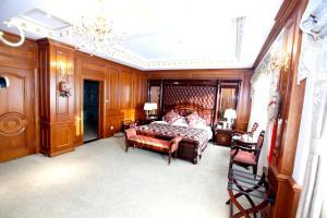 Кровать или кровати в номере Yanbian Baishan Hotel