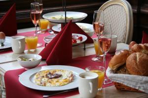 Opciones de desayuno disponibles en Hotel Bigarré Maastricht Centrum
