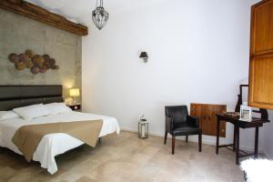 Cama o camas de una habitación en Molino del Machero