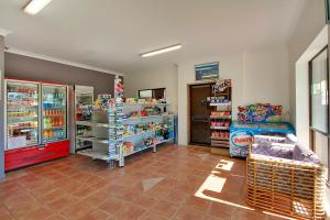 A supermarket or other shops at the resort village or nearby