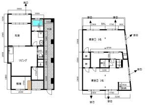The floor plan of Azzurro Elefante
