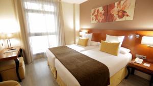 A bed or beds in a room at Hotel Puerta de Toledo