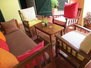 A seating area at Chez Eric