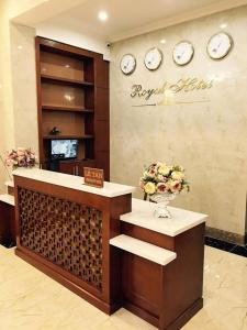 The lobby or reception area at Royal Hotel Ha Giang