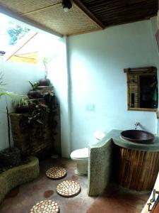 A bathroom at Ecolodge Bukit Lawang
