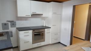 A kitchen or kitchenette at Alpen-Fewo, La Gassa 3