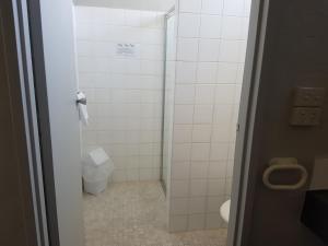 A bathroom at Belmore Motor Inn