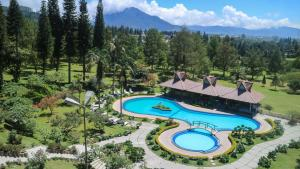 A view of the pool at Sinabung Hills Berastagi or nearby