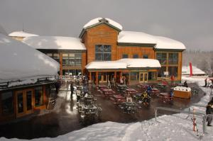 Targhee Lodge by Grand Targhee Resort during the winter