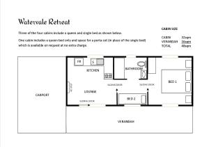 The floor plan of Watervale Retreat