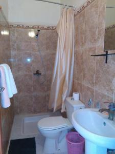 A bathroom at Hotel La Vallée