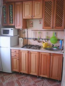 Кухня или мини-кухня в Апартаменты на Ленина 5 А