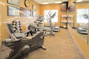 The fitness center and/or fitness facilities at Homewood Suites by Hilton Bloomington