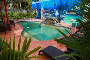 The swimming pool at or near Port Douglas Motel