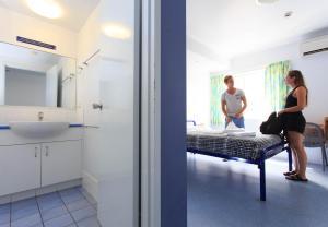 A bathroom at Cairns Central YHA