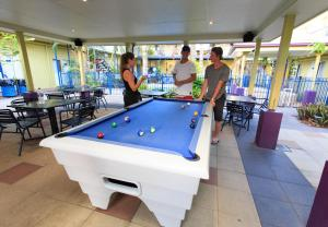 A pool table at Cairns Central YHA