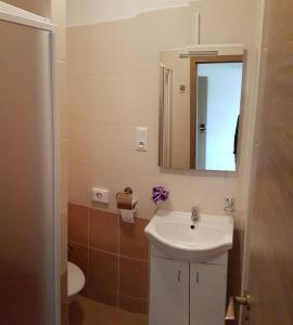 Kúpeľňa v ubytovaní Penzion Maja