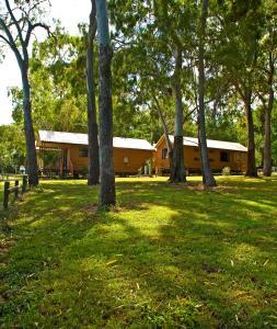 A garden outside Captain Cook Holiday Village 1770