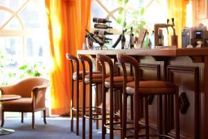 The lounge or bar area at Hotel Rubin