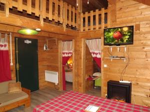 A television and/or entertainment center at le chalet