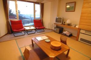 A seating area at Tazawa Kogen Hotel