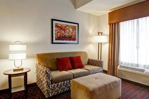 A seating area at Hampton Inn & Suites Red Deer