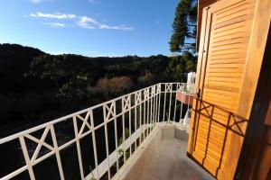 A balcony or terrace at Pousada Alto D'ouro