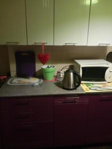 Кухня или мини-кухня в Always at Home Apartment On Shоlohova 17