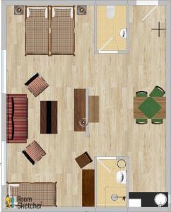 Grundriss der Unterkunft Hotel Garni - Appartements Fuksas