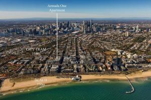 A bird's-eye view of Beach Apartment Port Melbourne