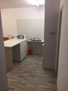 A kitchen or kitchenette at Nautilus Tourist Apartments