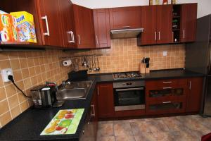 Kuchyň nebo kuchyňský kout v ubytování Apartmán Moravská Ostrava