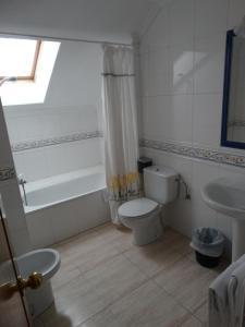 A bathroom at Hotel Los Juncos