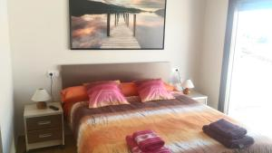 A bed or beds in a room at Casa Txema