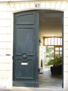 The facade or entrance of La Maison de Saumur