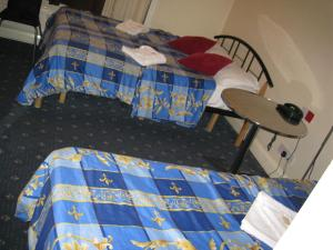 A bed or beds in a room at Hotel Sophia