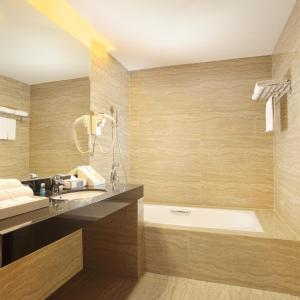 A bathroom at Four Points by Sheraton Medan