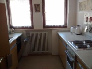 Küche/Küchenzeile in der Unterkunft Ferienwohnung Halder