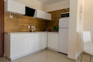 Kuchnia lub aneks kuchenny w obiekcie Apartamenty Sosnowe nad Morzem Łukęcin