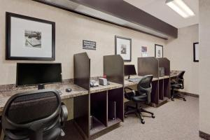 The business area and/or conference room at Ramada by Wyndham Stettler