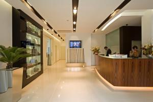 The lobby or reception area at Card International Hotel