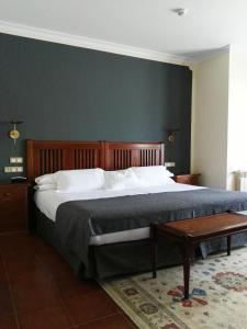 Cama o camas de una habitación en Hotel Finca La Mansión